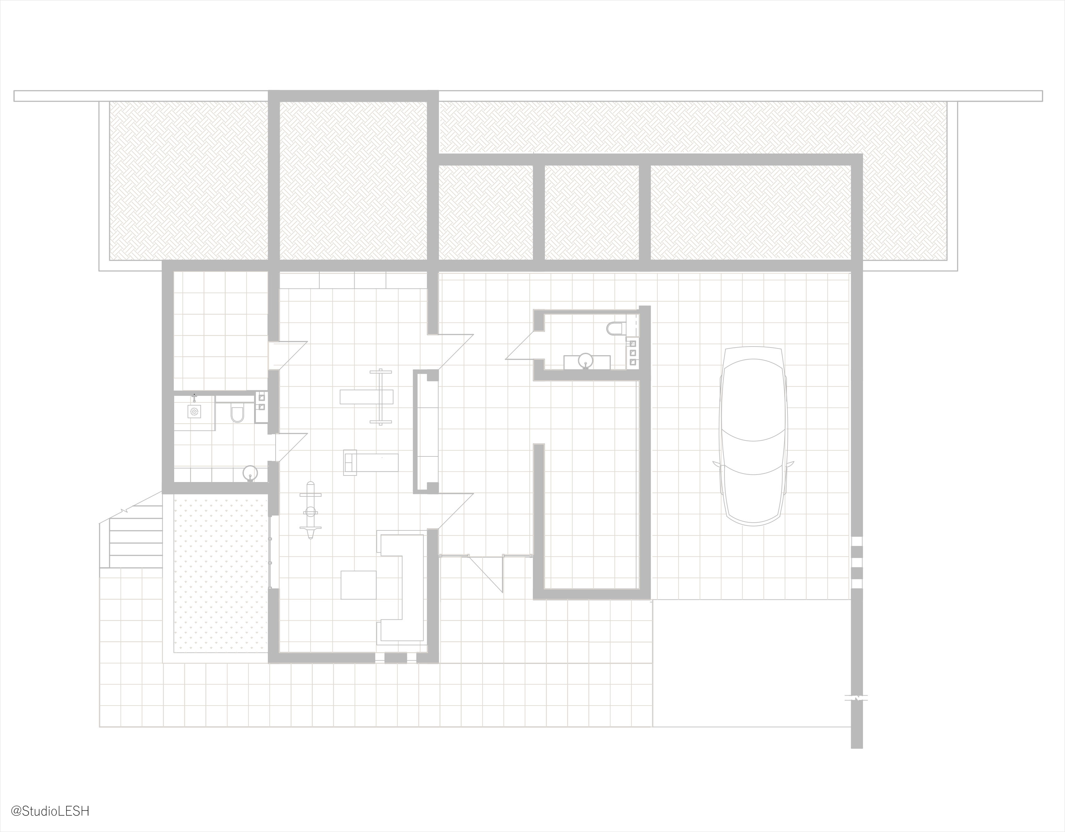 The layout of the house in Sochi. First floor.