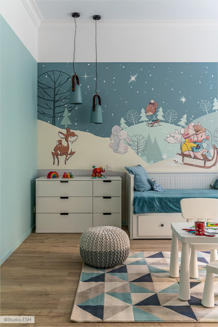 Making a children's room for a boy with photo wallpaper