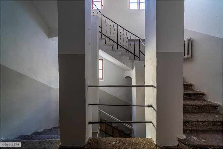 Staircase in an old foundation