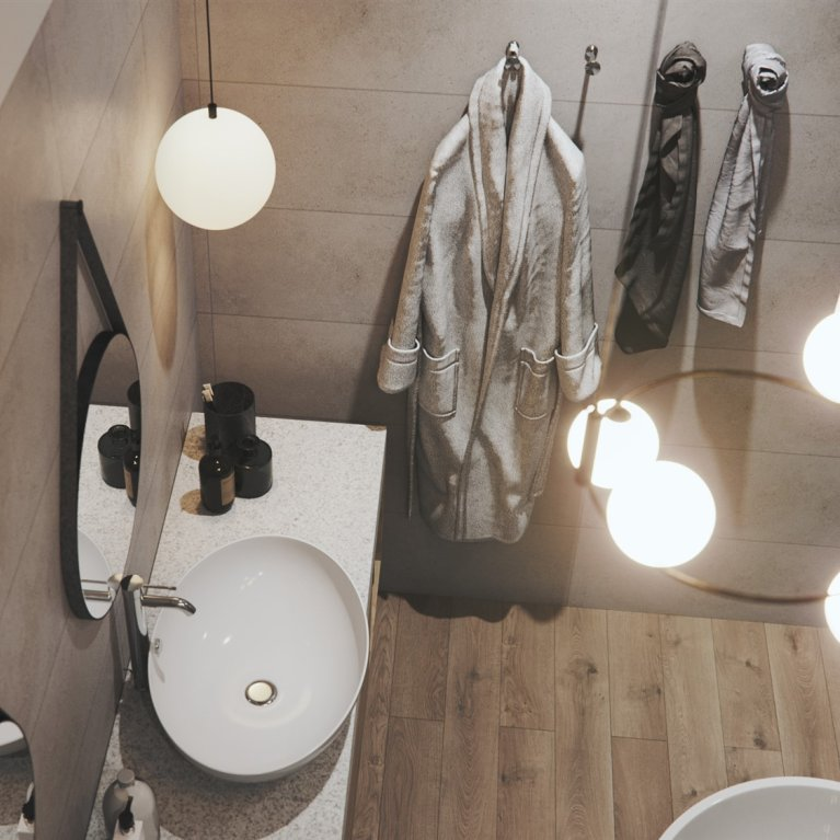 Accent lighting in the bathroom