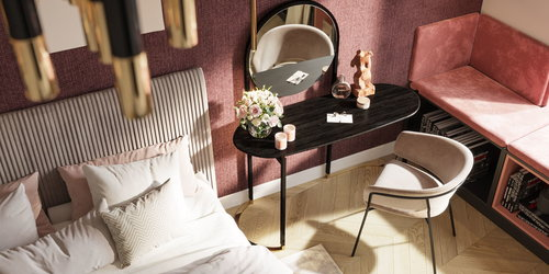Manicure table in the bedroom